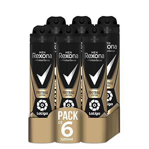 Rexona Desodorante Antitranspirante Football Laliga 200ml - Pack de 6: 1200ml