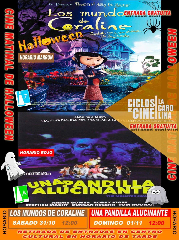 Ciclos de cine para los más peques en La Carolina (Jaén) especial Halloween con entrada gratuita.