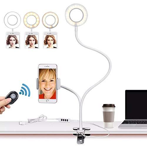 46% Descuento en Anillo de luz led con soporte para mesa con mando a distancia incluido