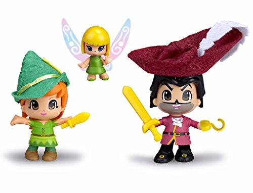 Pinypon - Peter Pan, Garfio y Campanilla (Famosa 700012738)