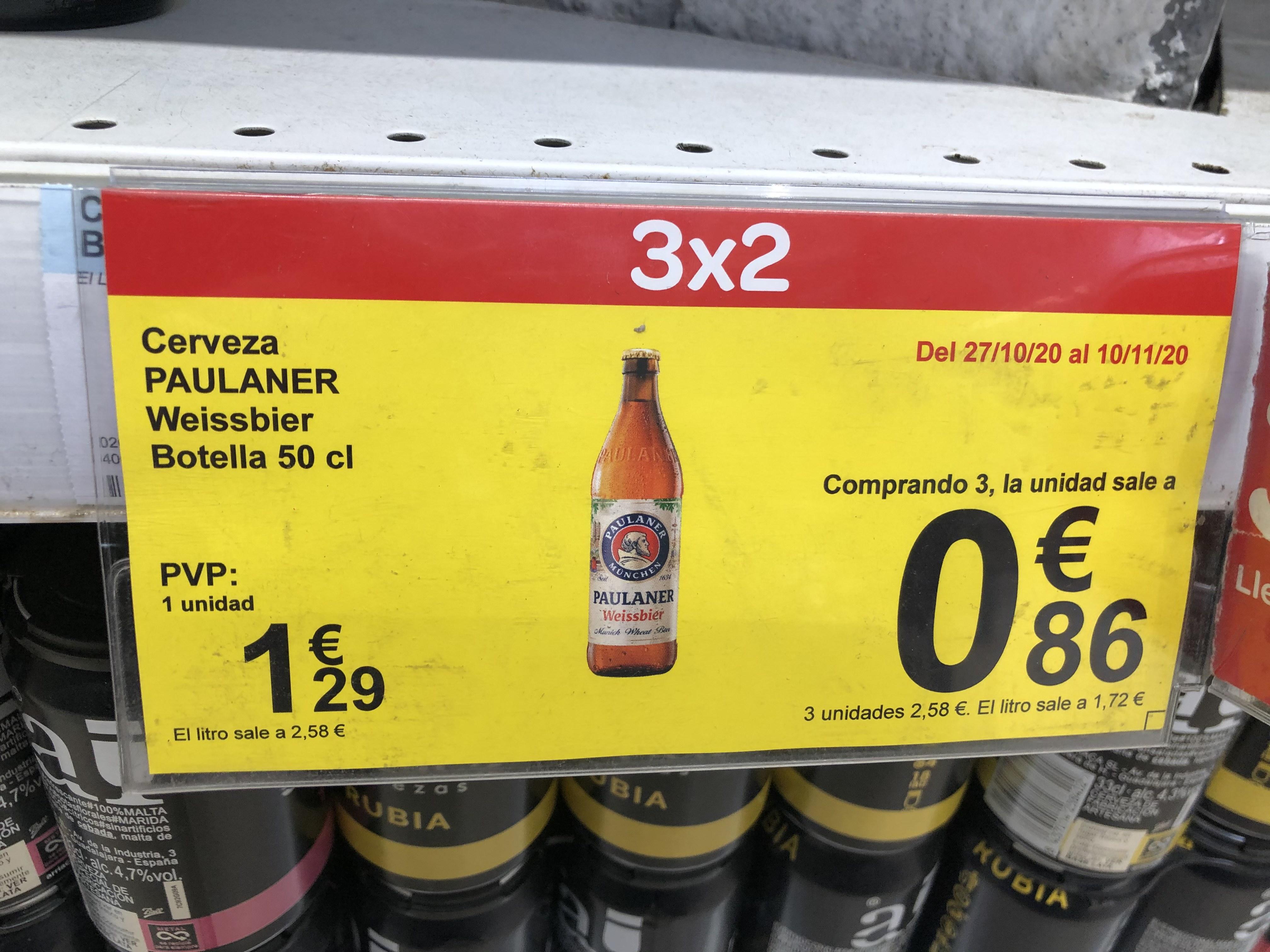 Cerveza Paulaner a 0,86€