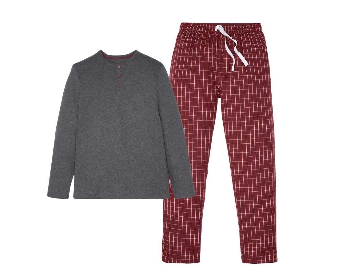 Pijama con pantalón recto a cuadros hombre (En tienda a partir del 2 de Noviembre)