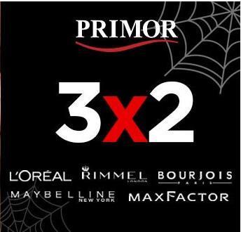 3x2 en maquillaje (marcas como L'ORÉAL, Rimme, Bourjois, Maybelline...)