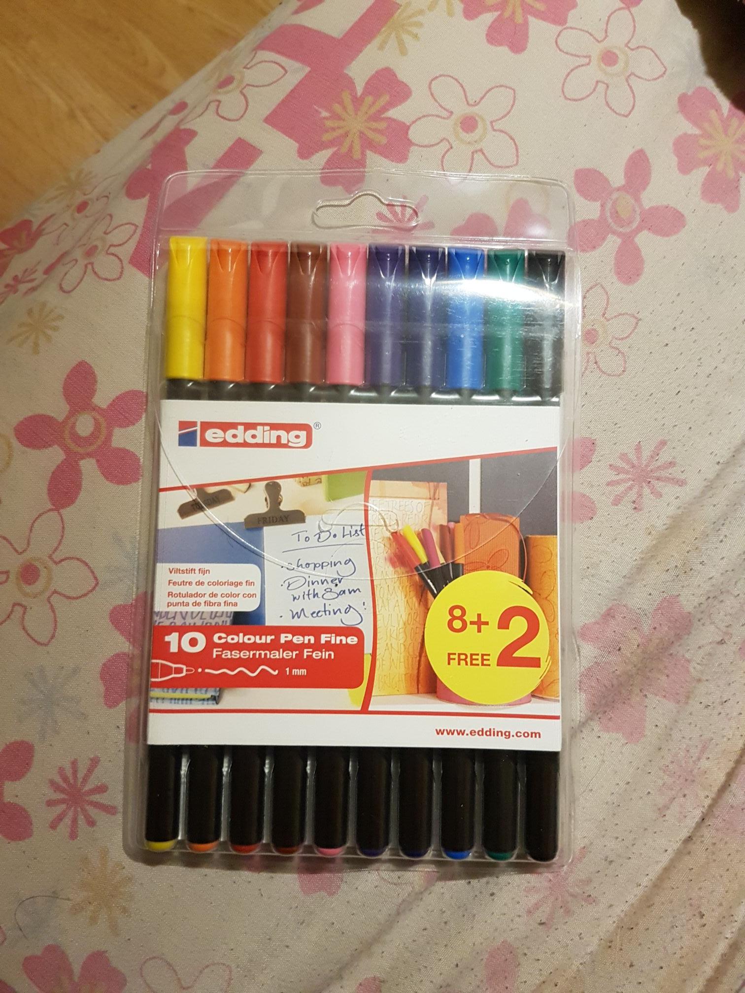 Rotuladores de colores edding 1200 (pack de 10) [Alcalá de Henares]