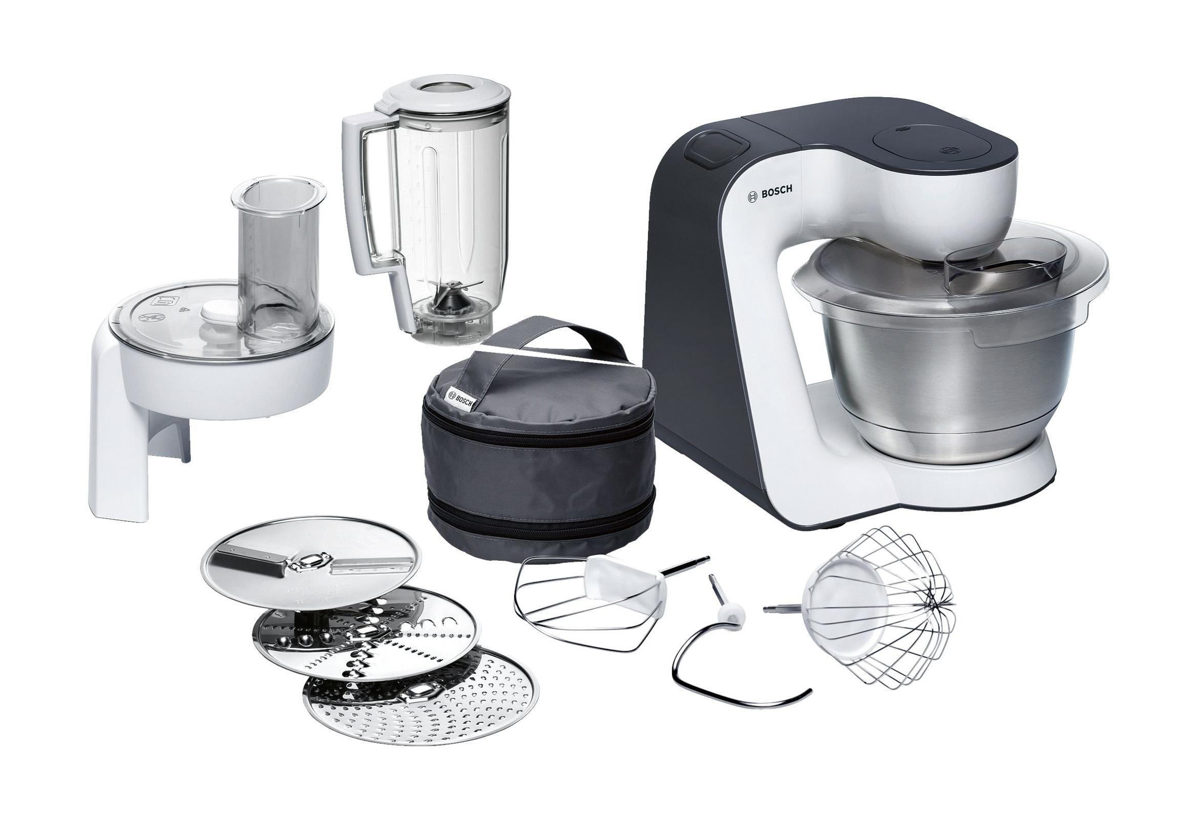 Bosch mum52120 robot de cocina 3,9 l negro, acero inoxidable, transparente, blanco 700 w