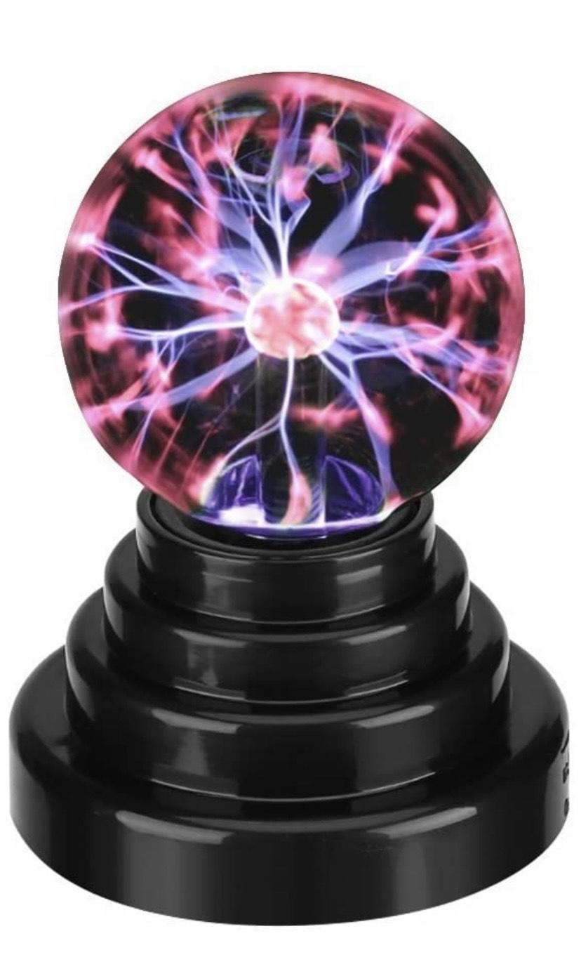 Luz de Bola Creativa Luz de Bola de Plasma Luz Táctil Sensible Globo Cargar USB o con Pilas