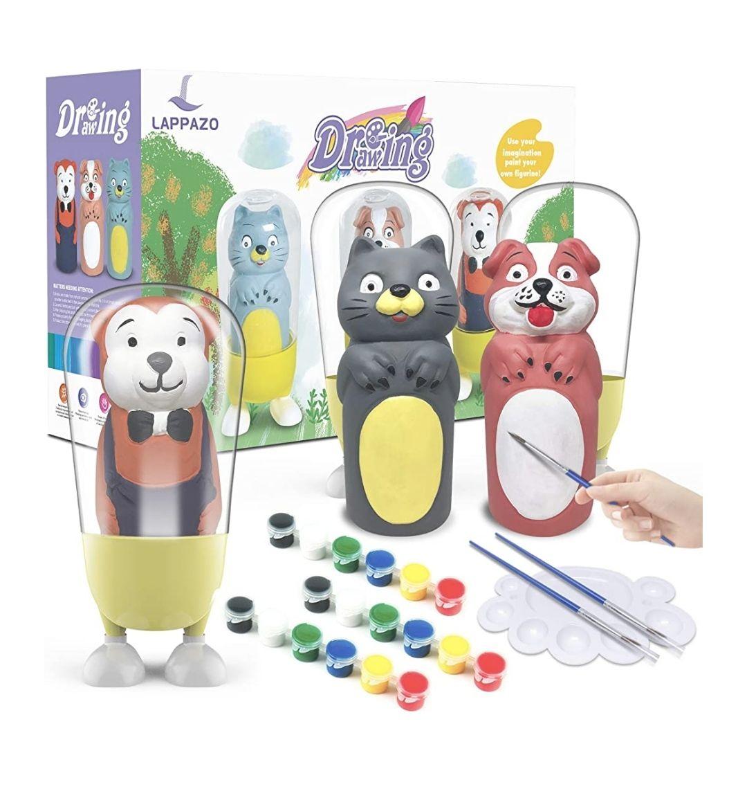 Pintura Kit Colorear para Niños Figuras de Yeso de Animales DIY Manualidad Creativo Educativo