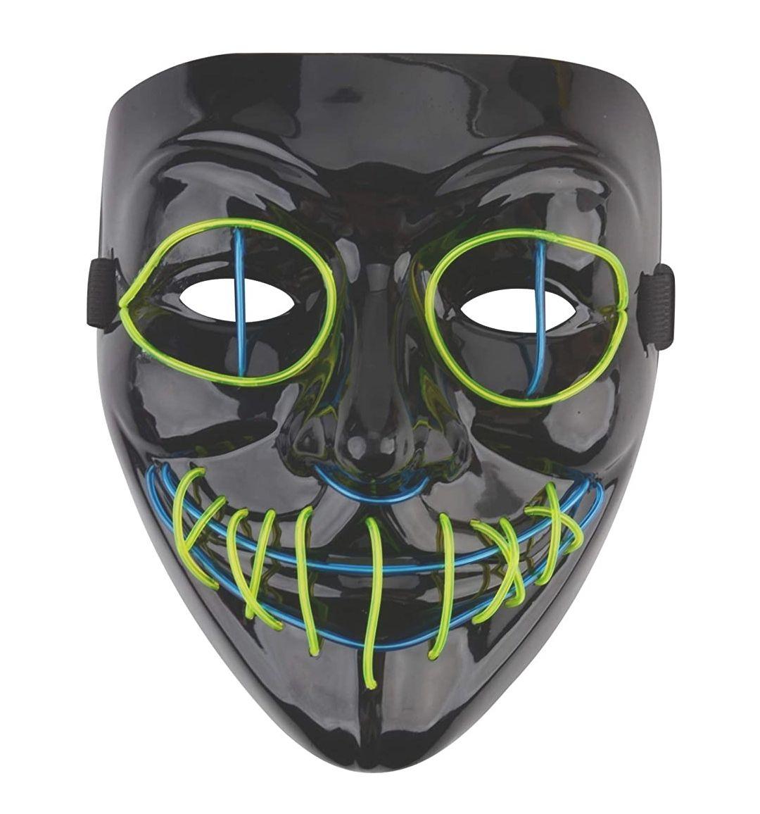 Máscaras Halloween LED,Cosplay Grimace Festival Party Show,Horror