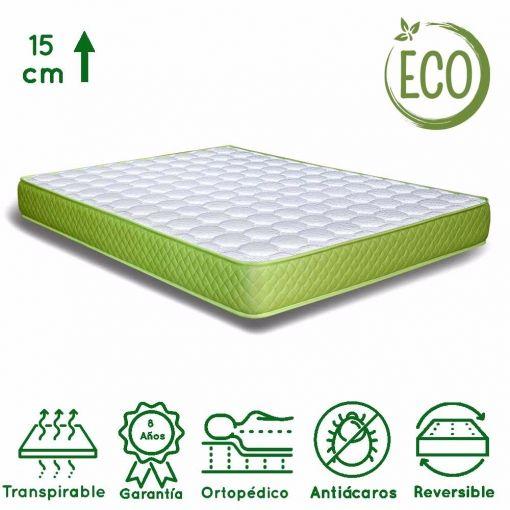 Colchón 90 X 190 X 15 Cm; Eco Friendly para cama supletoria
