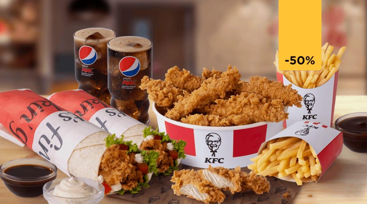 Glovo: Combos KFC con un 50% de descuento