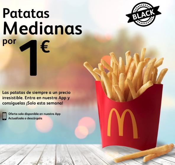 Patatas medianas a 1€ - McDonals