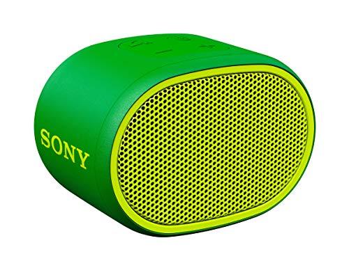 Sony SRSXB01G - Altavoz inalámbrico portátil 3W (Compacto, Bluetooth, Extra Bass, 6h de batería, Resistente al Agua IPX5, Viene con Correa)