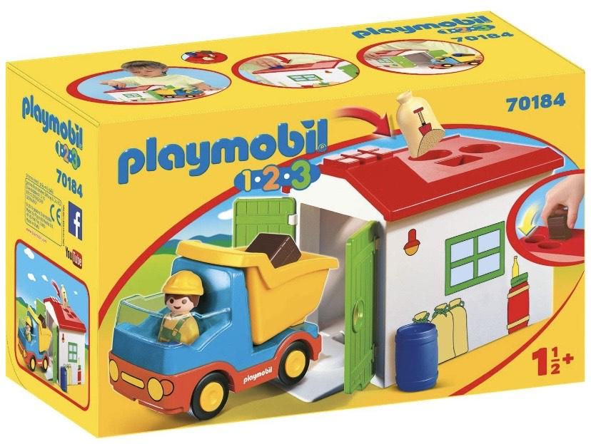 PLAYMOBIL 1.2.3 Camión+garaje,
