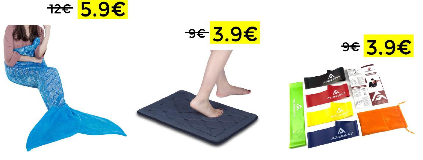 Selección de productos en liquidación(Ej: Alfombra de Baño 3,9€)