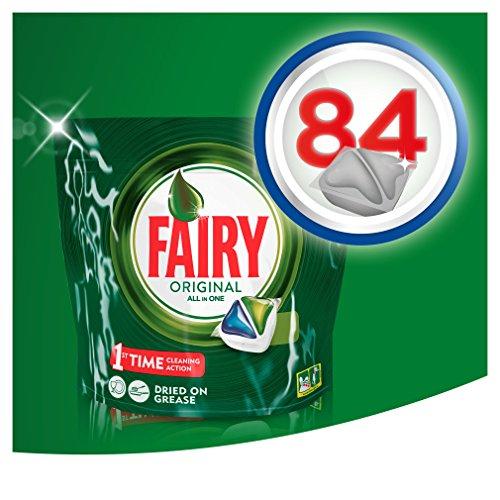 Pack de 84 cápsulas de Fairy a 0,11€ cada cápsula