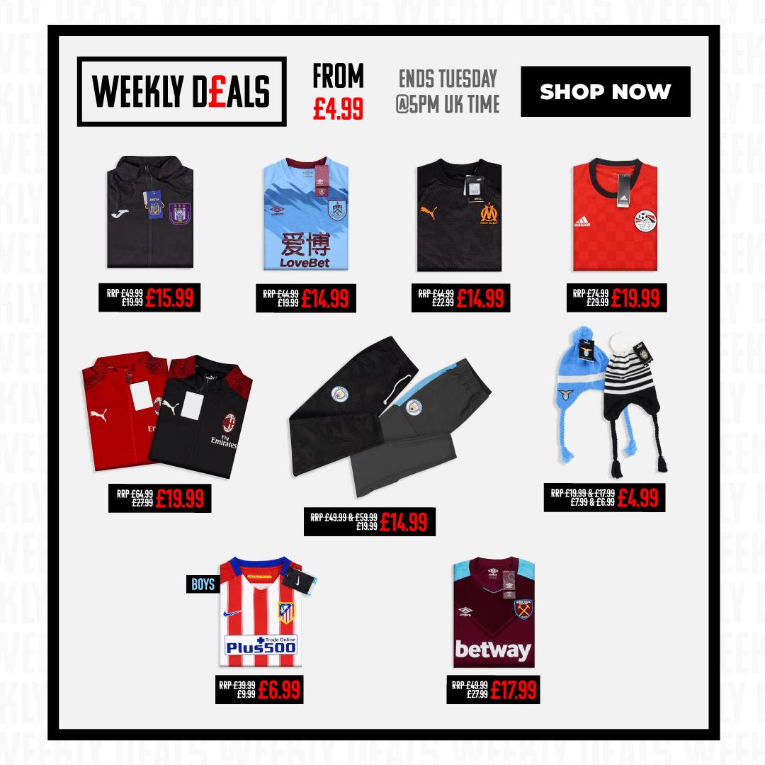 Ofertas de la semana en Classic Football Shirts