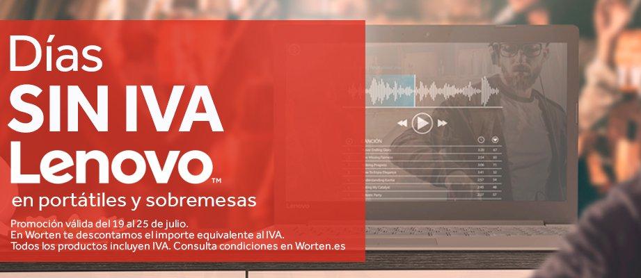 Días SIN IVA en Portátiles, Ordenadores y 2 en 1 Lenovo