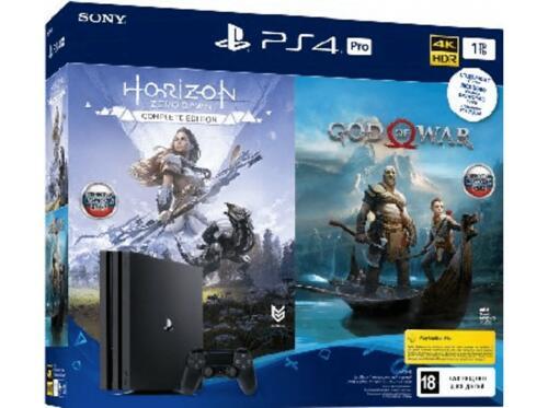 Consola - PS4 Pro 1TB + God of War + Horizon: Zero Dawn Complete