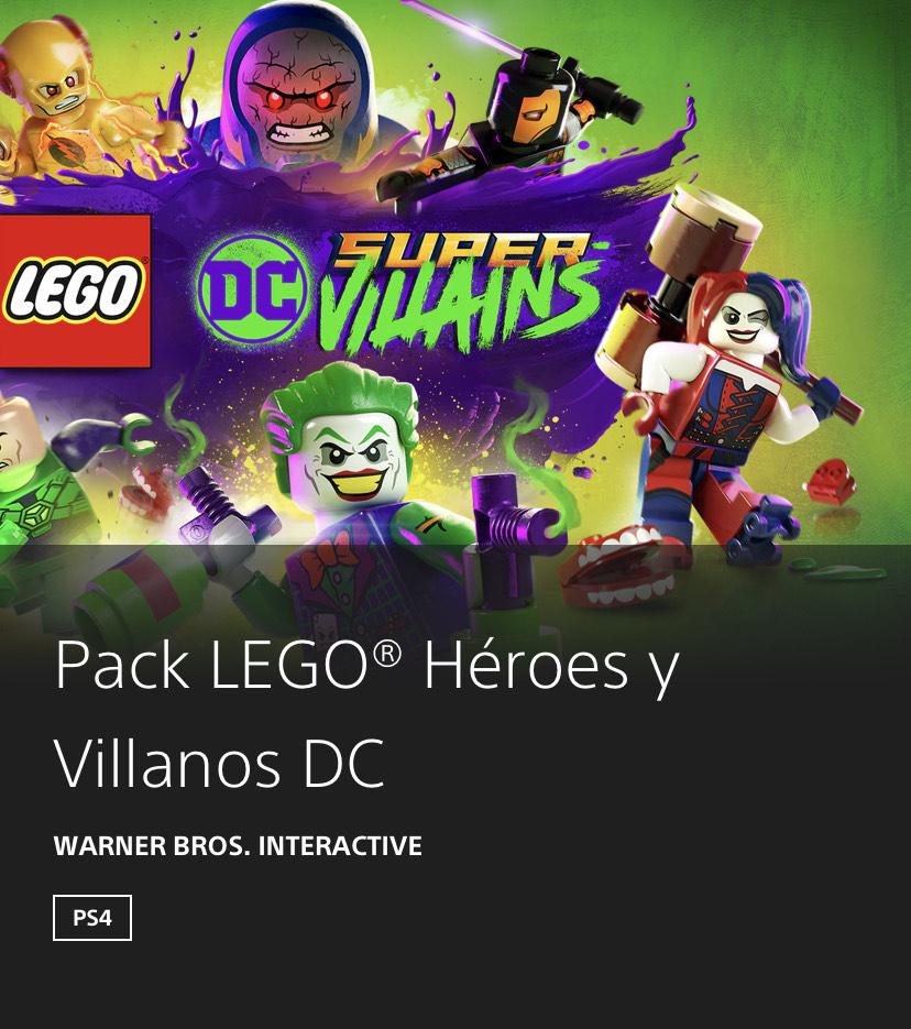Pack LEGO® Héroes y Villanos DC ( PS4) con un 60% de descuento