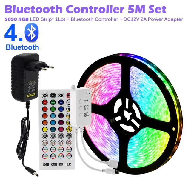 Tira de luces LED Flexible RGB 5050 2835 de 5 metros