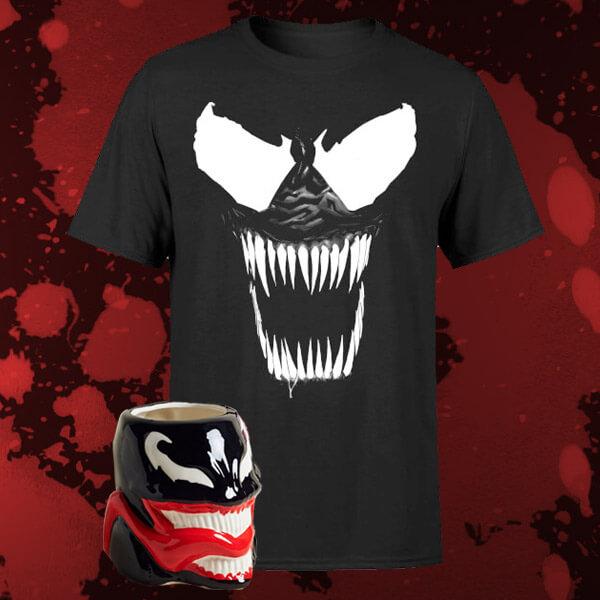 Pack Marvel Venom: Camiseta + Taza