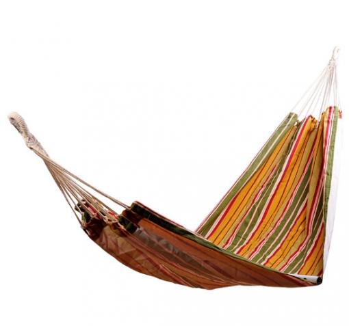 Hamaca Jardín Piscina Playa O Camping - Naranja - 70% Algodón - 200x100cm