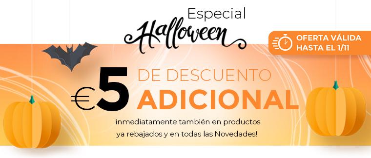 10 euros de regalo si es tu primera compra + 5 euros de descuento por Halloween,un regalo y envio gratuito ( compra minima 20 euros )