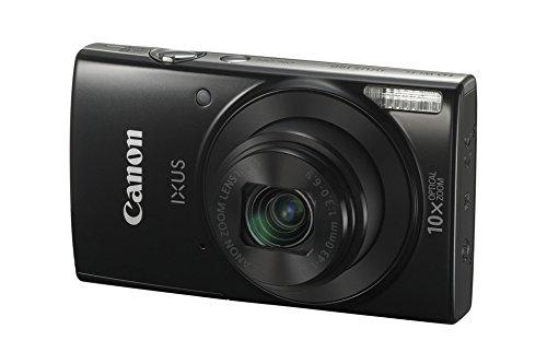 """Canon IXUS 190 - Cámara compacta de 20 MP (pantalla de 2.7"""", 10X Optical Zoom, modo Smart Auto, Date Button, Easy Auto, Creative Filter, Canon Camera Connect, WiFi) negro"""