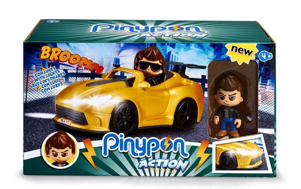 Pinypon Action, Super Coche con la figura de un espía y accesorios.
