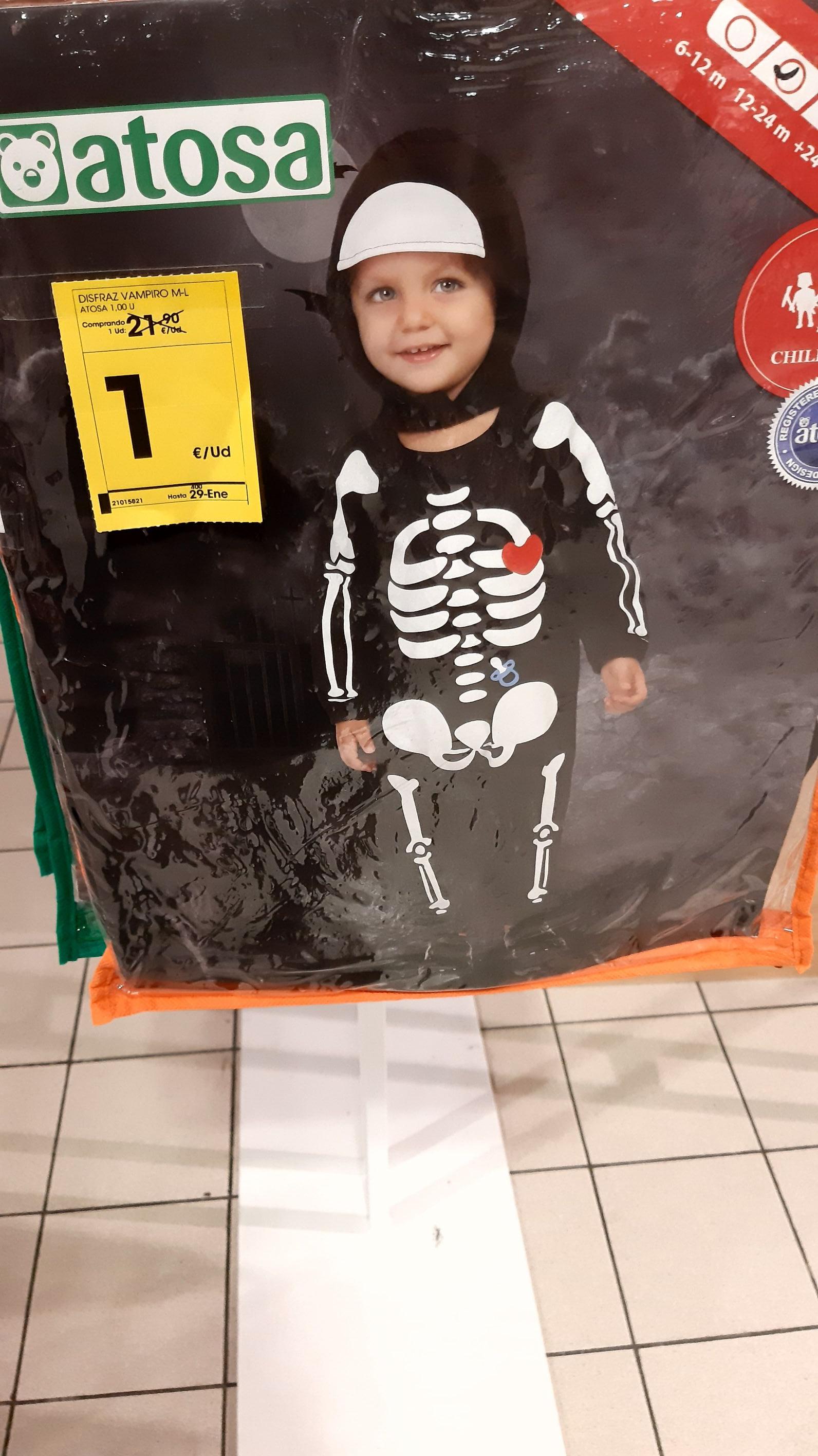 Disfraces niños/as halloween 1 euro Visto en Eroski de Garbera( San Sebastián)