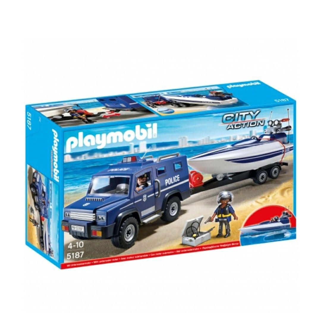 Playmobil - Coche policia + cupón del 40%