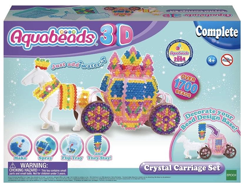 Aquabeads - Set carruaje de cristal en 3D