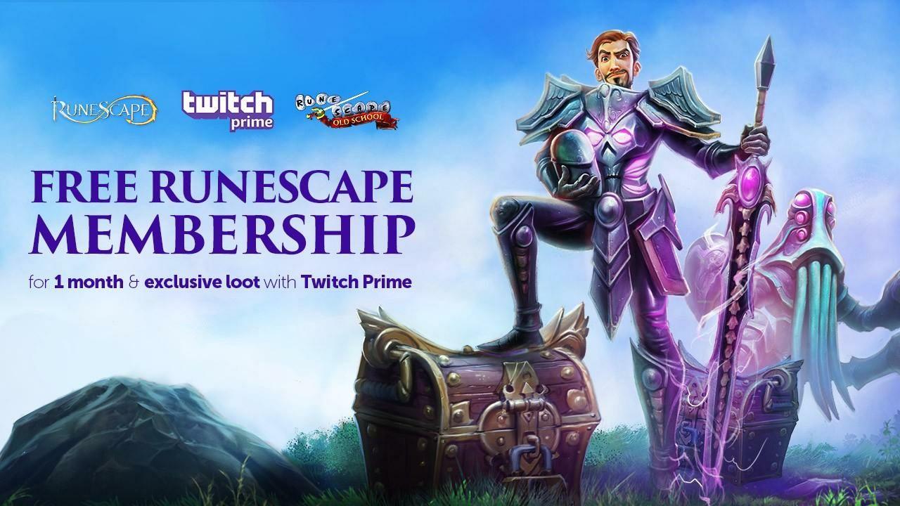 Mes suscripción gratis de Runescape + Loot exclusivo (Gratis con Twitch Prime)