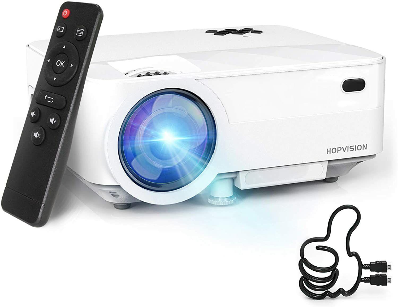 HOPVISION Mini Proyector 1080P Full HD,Proyector Portátil de 5000 LUM