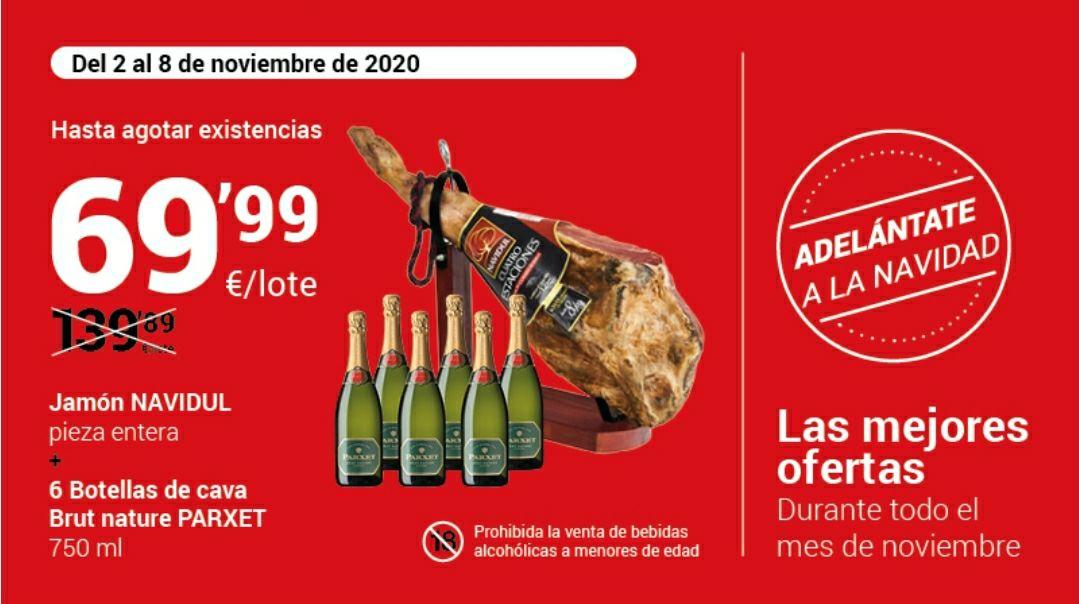 Jamón Navidul + 6 botellas Cava Parxet en Bonpreu/Esclat