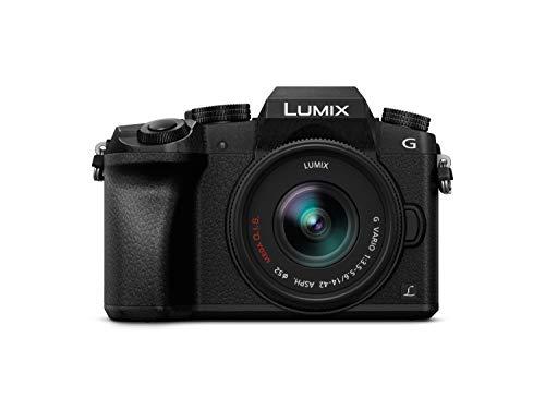 "Panasonic Lumix DMC-G7KEC - Cámara EVIL de 16 MP, Pantalla 3"", Grabación de Vídeo en 4K, Wi-Fi, RAW, Cuerpo Ergonómico"
