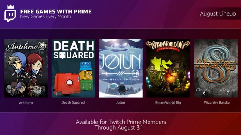 Juegos agosto (Gratis con Twitch Prime)