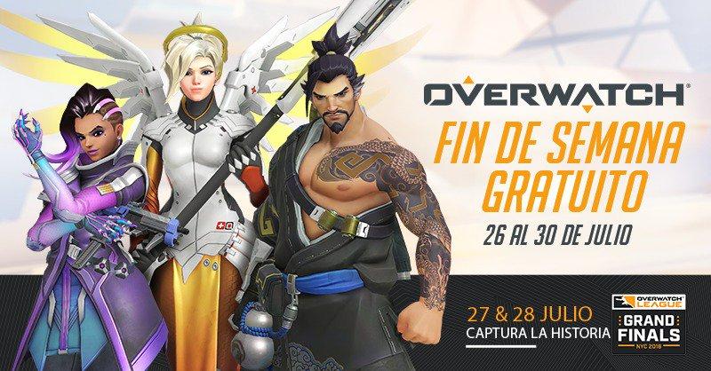 Juega a Overwatch GRATIS del 26 al 30 de Julio en PC