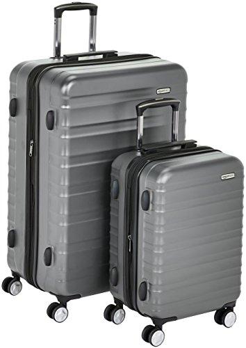 AmazonBasics - Juego de maletas (55 cm, 78 cm) (una de cabina)