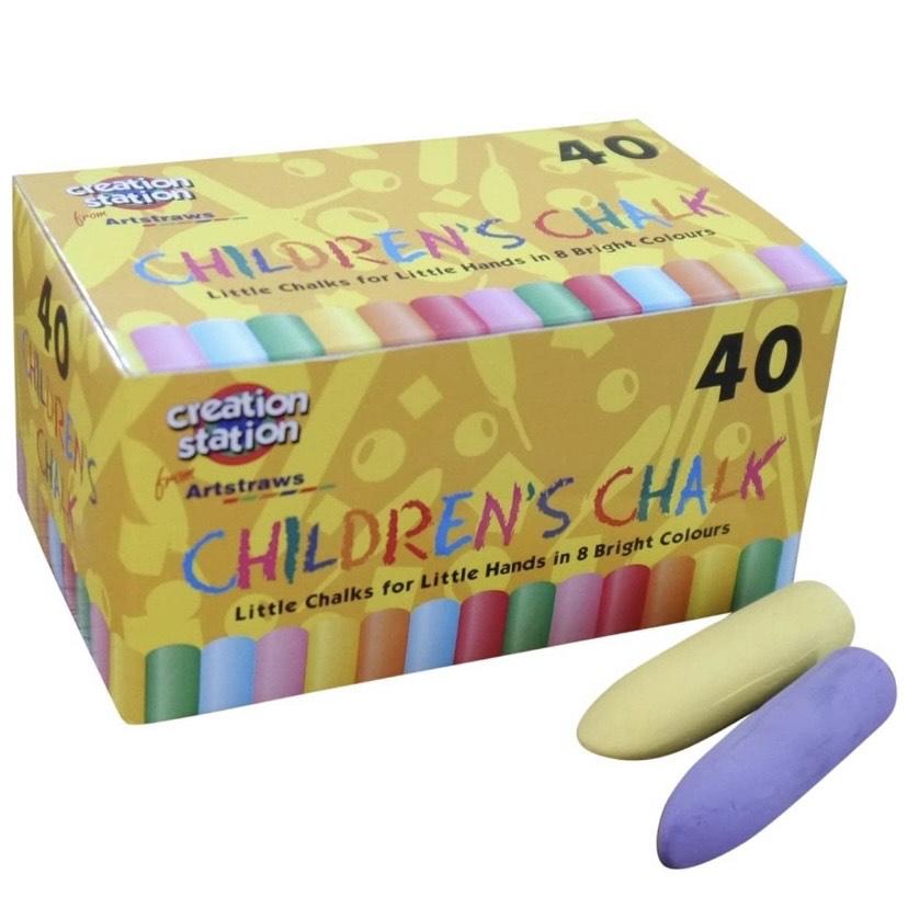 40 Tizas de Punta cónica para niños
