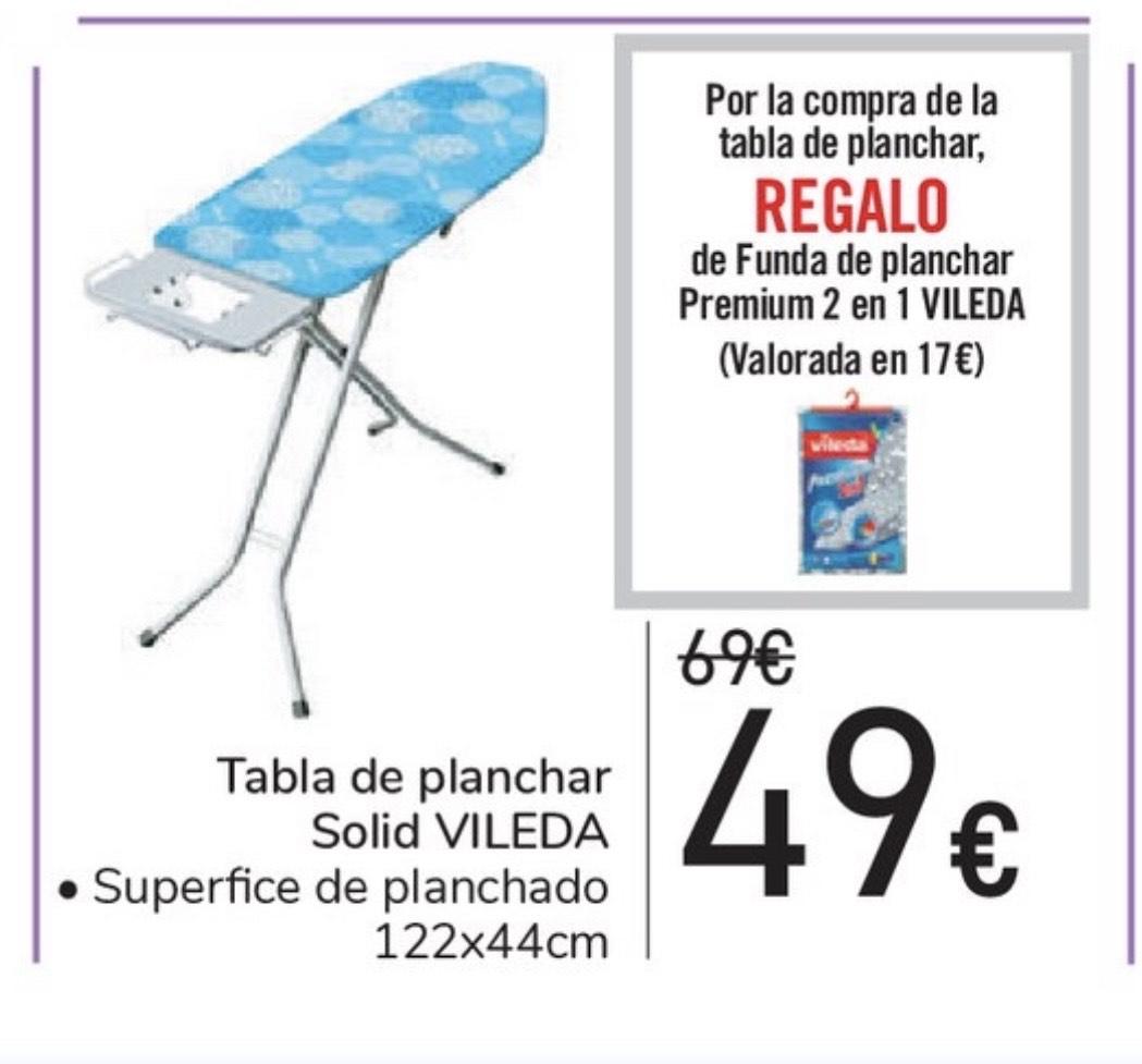 Tabla de planchar Vileda Solid + funda premium 2 en 1.