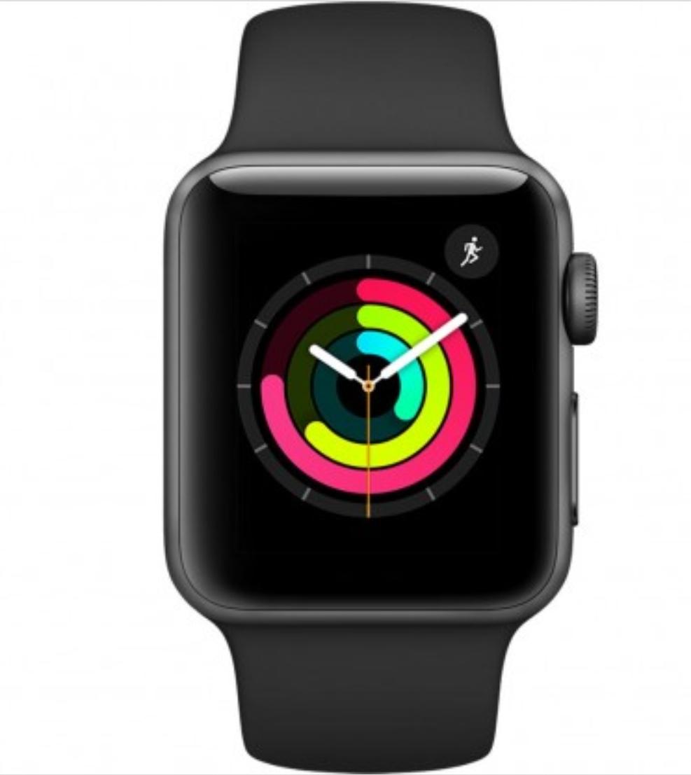 Apple Watch Series 3 (38mm) Aluminio en Gris Espacial y Correa Deportiva Gris