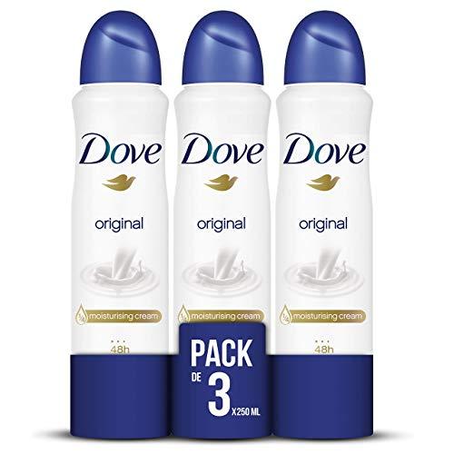 Pack de 3 desodorantes Dove Original sin alcohol solo 7.40€