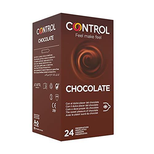Caja de condones con aroma y sabor a chocolate (doble placer)