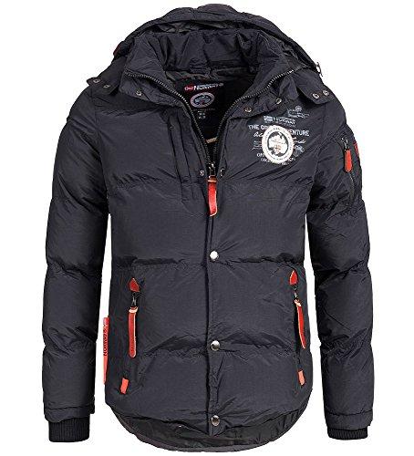 Geographical Norway - Chaqueta acolchada de invierno para hombre, con capucha.