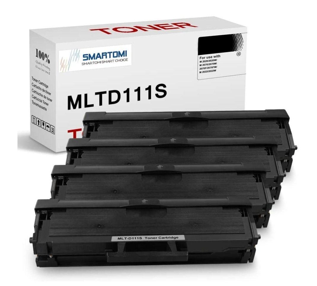 4 Cartucho de tóner Negro MLT-D111S Compatible con Cartuchos Samsung
