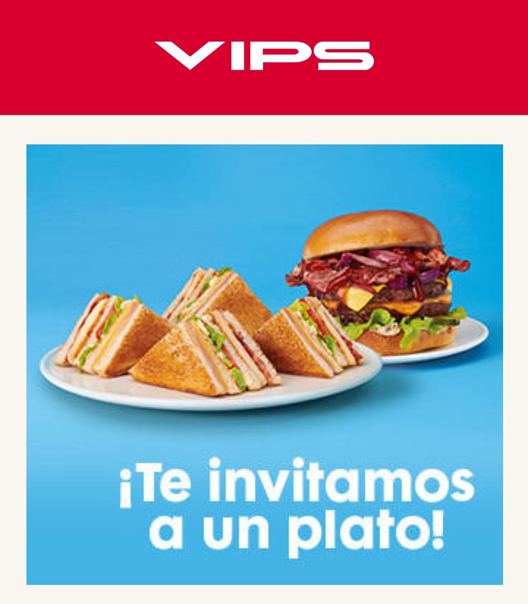 Platos gratis en VIPS