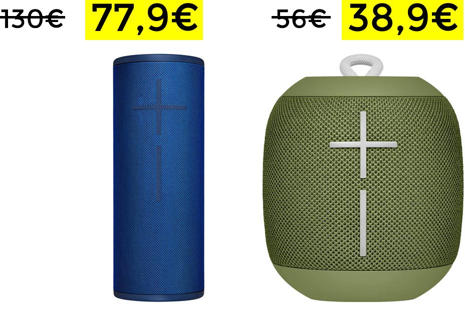 UE Megaboom 3 altavoz 360º solo 77.9€ y Wonderboom solo 38.9€