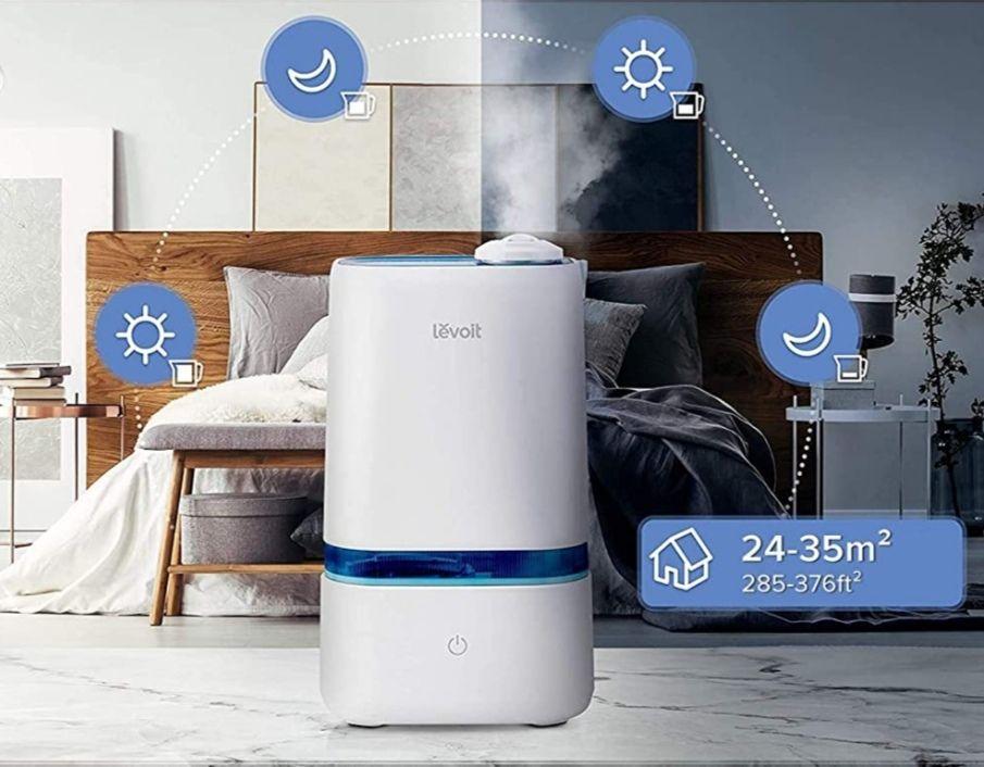 Levoit Humidificador Ultrasónico de Niebla Fría de 4L para Bebés (sin BPA), Difusor de Aroma, Funcionamiento Silencioso