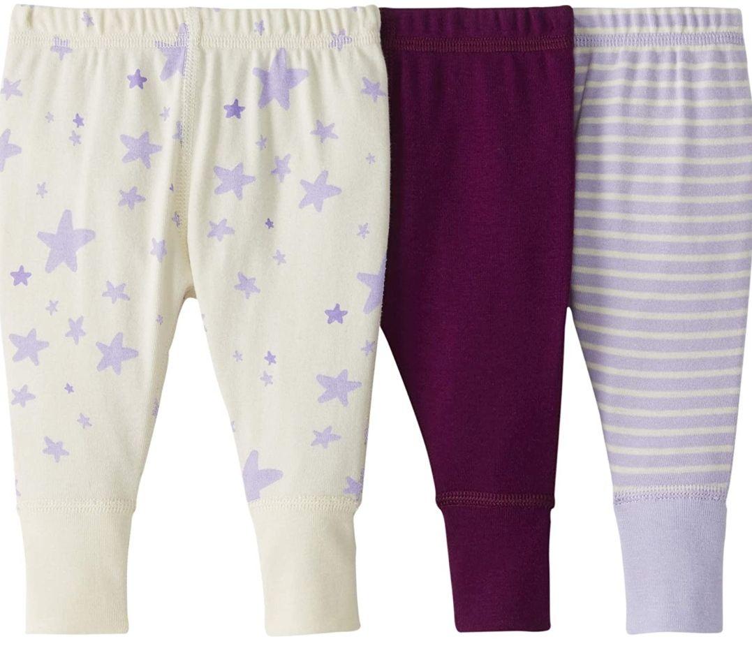 Pack de 3 pantalones de chándal de algodón orgánico para bebé(0a3 meses)